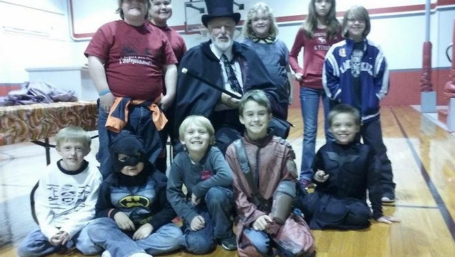 On Oct. 30, Jerry Strobel preformed magic tricks for children at the Norfork Youth Center.