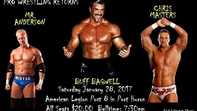 Blue Water Championship Wrestling returns Saturday at American Legion in Port Huron.