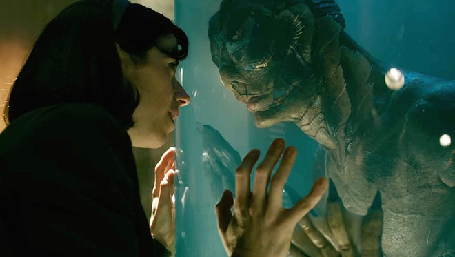 "Creatures from the love lagoon: Sally Hawkins and Doug Jones in ""The Shape of Water."""