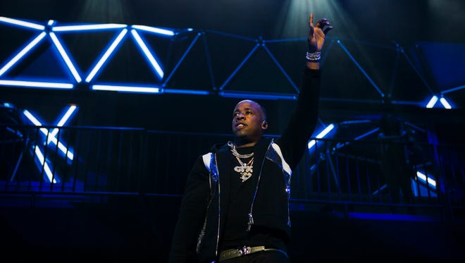 June 29, 2017 - Memphis rapper Yo Gotti performs during his annual Yo Gotti & Friends Birthday Bash at FedExForum on Thursday night. Special guests included Money Man, YFN Lucci, Meek Mill, Jeezy, Lil Wayne, MoneyBagg Yo, O.T. Genasis and T Grizzly.
