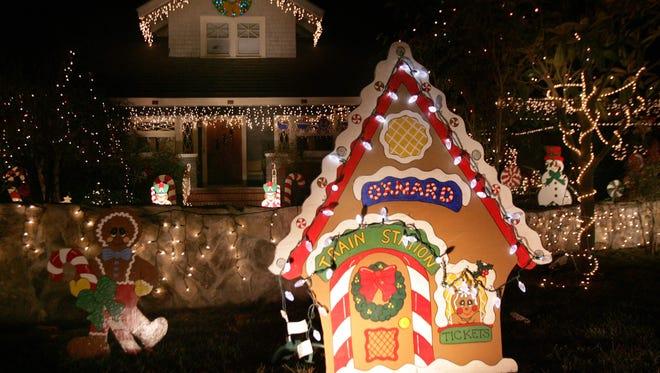 Christmas Tree Lane covers several blocks in Oxnard.