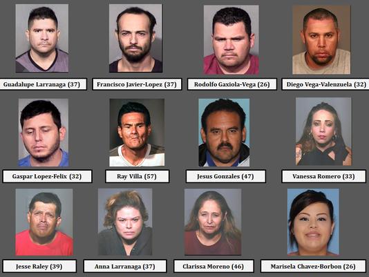 12 arrested in Chandler smuggling ring