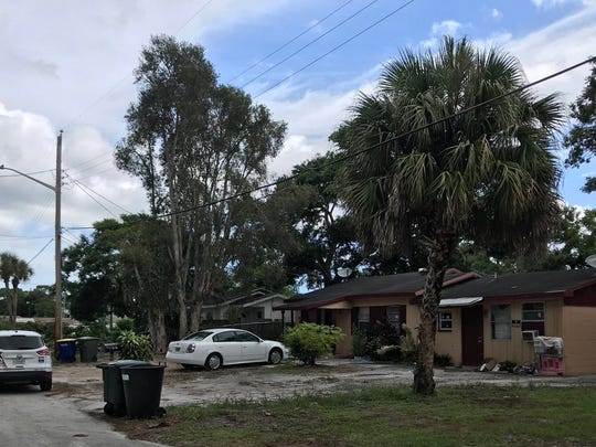 Location in Fort Pierce where woman was shot Sunday.