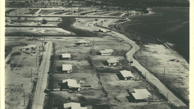 These are the first eight houses built in Cape Coral.  In 1960, Elmer Tabor opened a grocery store for the 13 residents of Cape Coral.