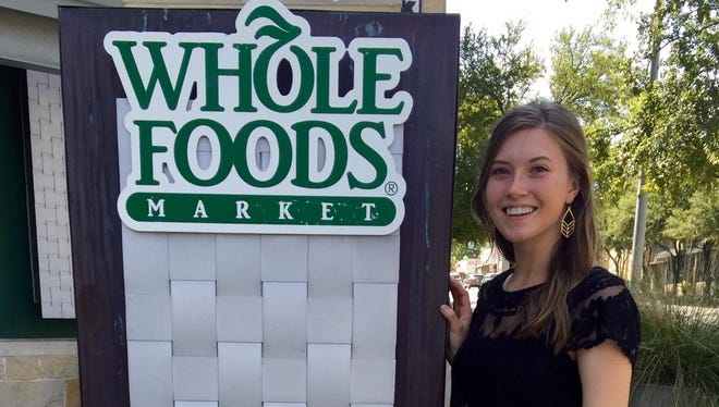 Kathryn Wilson, an advertising major in Drury's Department of Communication, recently completed an internship at the headquarters for Whole Foods Market.