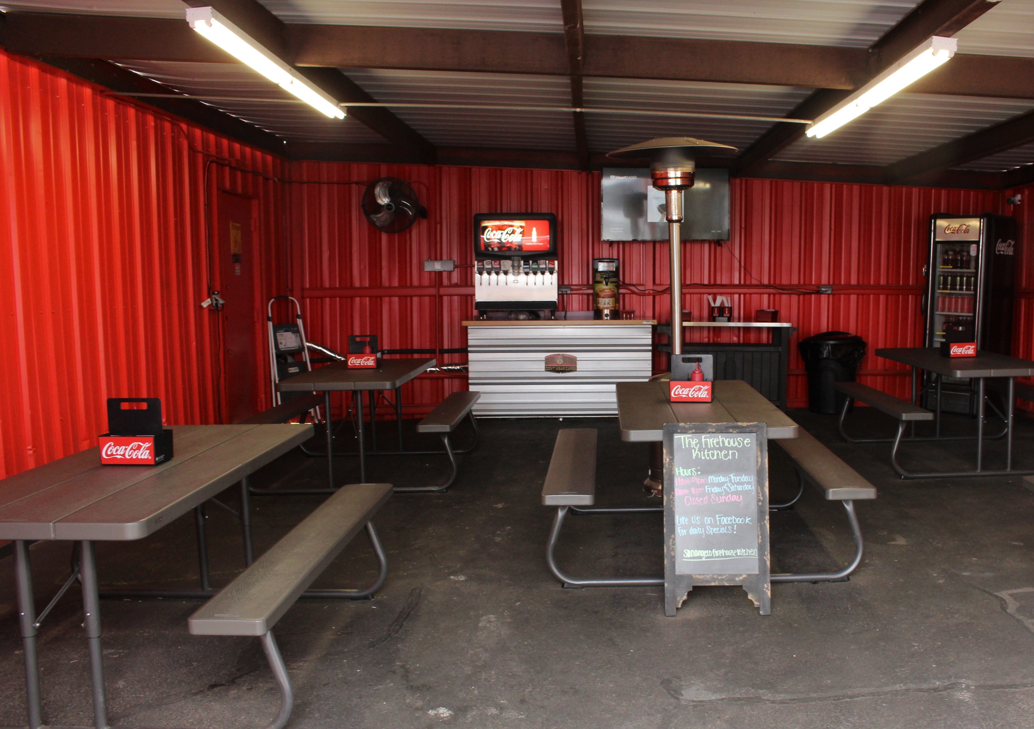 Firehouse Kitchen Owners Lacie And Johsua Hewitt Rent This Dining Room Next  To Their Food Truck