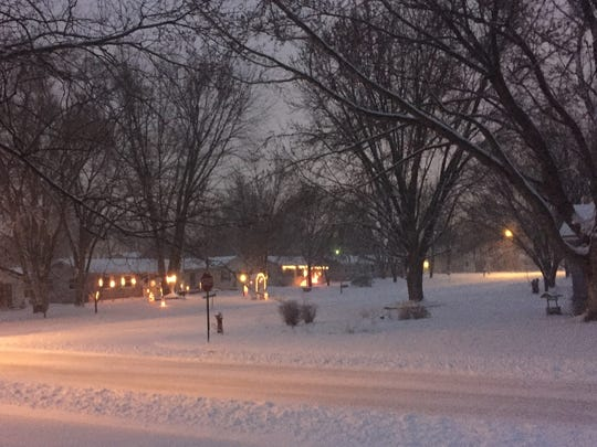Snowfall in southeast St. Cloud on Saturday morning.