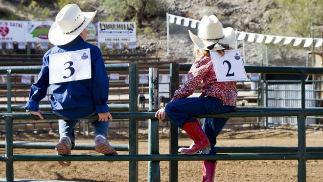 Youngsters can try their hand at mutton bustin' during Wild West Days in Cave Creek beginning Nov. 6.