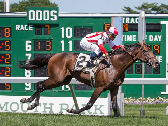 Money Multiplier wins the Monmouth Stakes on Haskell