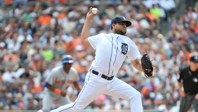 Tigers closer Francisco Rodriguez picked up his 34th save in dramatic fashion Thursday.