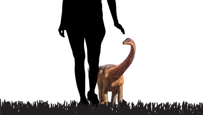 Baby Rapetosaurus were only dog-sized a few weeks after hatching.