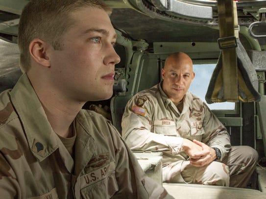 """Joe Alwyn and Vin Diesel) in """"Billy Lynn's Long Haltime"""