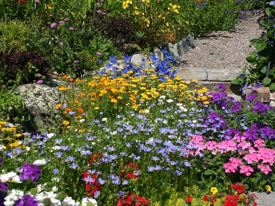 Perennial gardens change throughout the season.