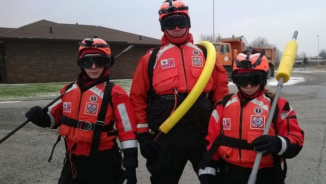 The Coast Guard recommends dry suits to protect from cold water, in addition to life jackets to stay afloat.