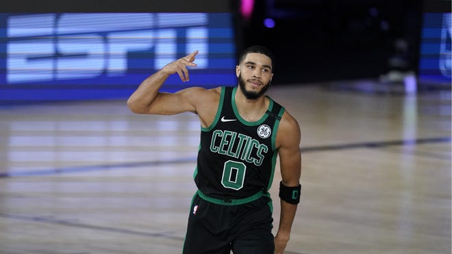 Boston's Jayson Tatum joined an exclusive club with his third All-NBA team nod.