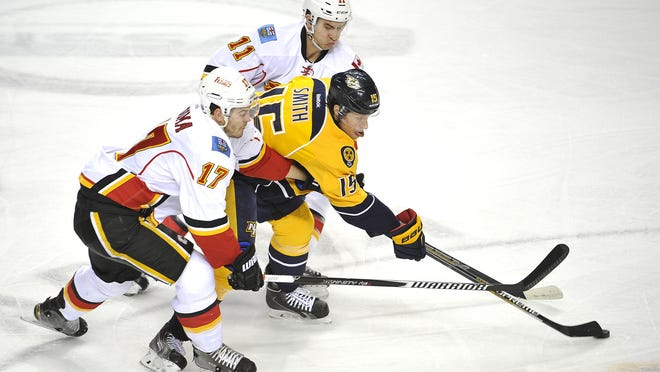 Craig Smith's 47 combined goals over the past two seasons lead the Predators during that span.
