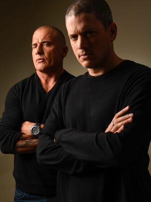 Dominic Purcell, left, and Wentworth Miller developed a brotherly relationship after playing brothers for four years on TV.