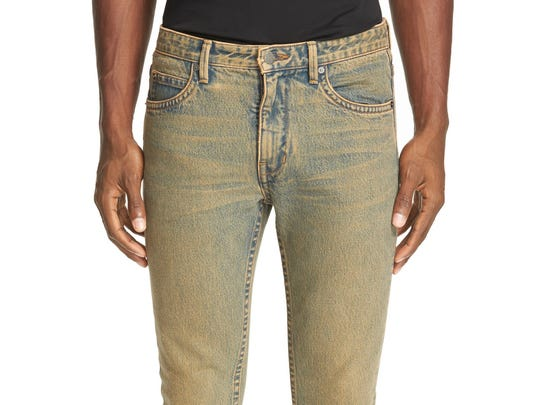 These jeans by Helmut Lang retail for $275, but they've been on sale at Nordstrom so you may get a deal.