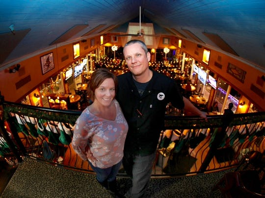 Shark on the Harbor owners Jodi and Travis Wright.