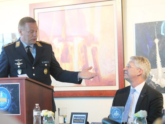 Reiter was introduced by Georg Walters, deputy commander of the German Air Force Flying Training Center.