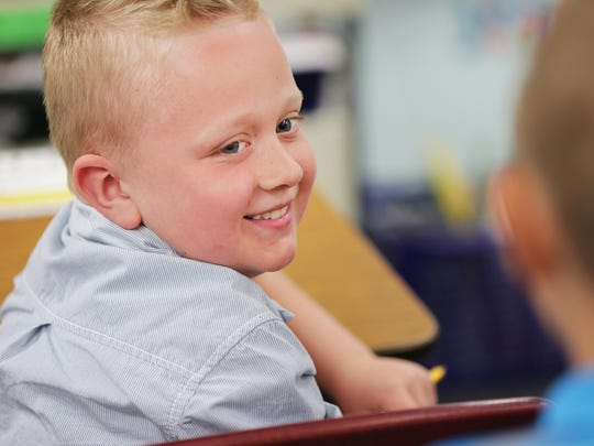 Brody Smith is a first-grader at St. Joseph School