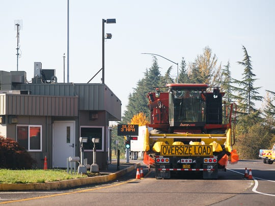 An Oregon Department of Transportation weigh station along the I-5 Southbound at Milepost 274 on Wednesday, Oct. 25, 2017.
