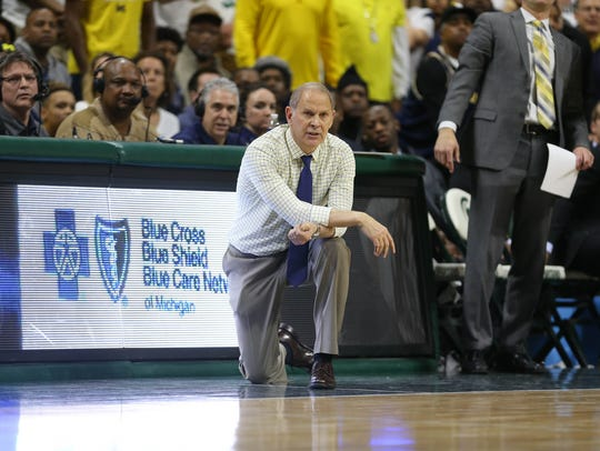 Saturday's victory was U-M coach John Beilein's third in East Lansing with the Wolverines.