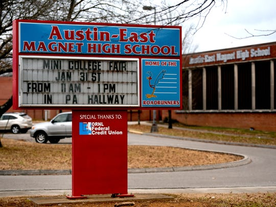 Austin-East Magnet High School would be one of two schools Project GRAD serves if the board passes the MOA on Wednesday.