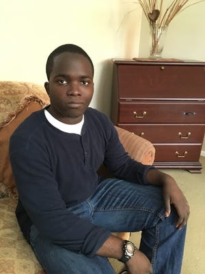 """Former Rutgers-Camden student Ademola """"Damola"""" Ojeikere went ftom homeless to the Navy with the assitance of the Crossroads Program in Willingborto"""