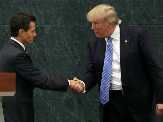 Enrique Pena Nieto,Donald Trump