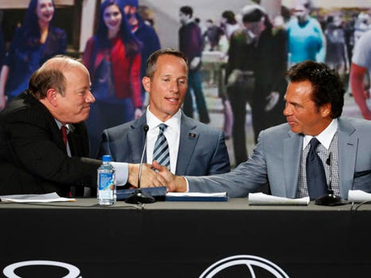 Mike Duggan, Tom Gores, Chris Ilitch
