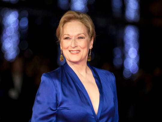 """FILE - In this Oct. 7, 2015 file photo, Meryl Streep appears at the premiere of the film """"Suffragette,"""" at the opening gala of the London film festival in London. The Hollywood Foreign Press Association announced Thursday, Nov. 3, 2016, that Streep will receive the Cecil B. DeMille Award for """"outstanding contributions to the world of entertainment."""" The 67-year-old actress has long been a mainstay at the ceremony. She's been nominated 29 times."""
