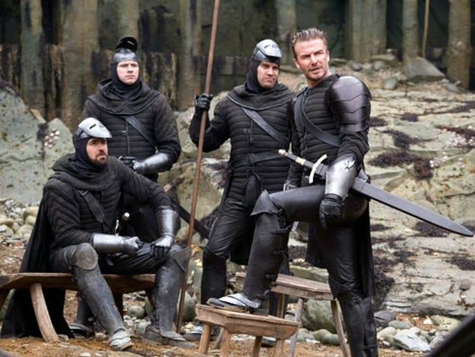 "David Beckham in a scene from, ""King Arthur: Legend"