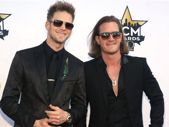 Brian Kelley, left, and Tyler Hubbard, of Florida Georgia