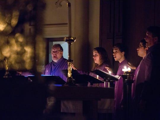 Singers at a Christ Church compline concert earlier