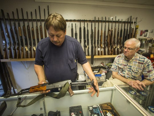 Masters of Gun and Rod owner Mark Raines exhibits a