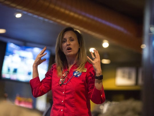 Florida Democratic Party Chairwoman Allison Tant offers
