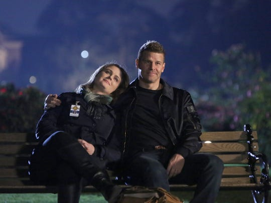 """Emily Deschanel and David Boreanaz left their """"Bones"""" characters, Brennan and Booth, at the end of the series in 2017. But the series remains popular in syndication."""