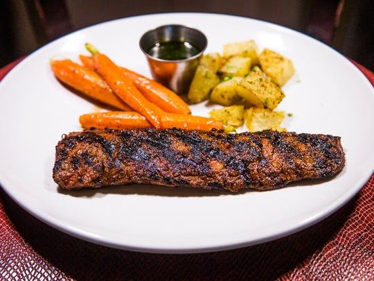 This is the spice-rubbed steak from La Locanda Ristorante Italiano in Scottsdale, Tuesday, June 14, 2017.