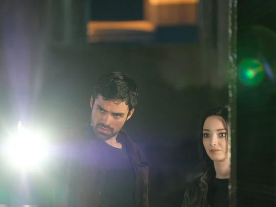 Sean Teale and Emma Dumont in 'The Gifted.'