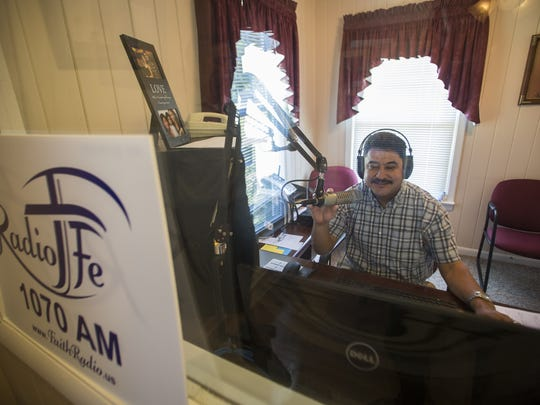 Radio Fe Director Enrique Yanez operates the boards at the Faith Radio station. The station has has expanded their content to include a new Spanish language Christian radio programming. The station operates on 1070 AM from dawn to dusk and 24 hours a daily online.