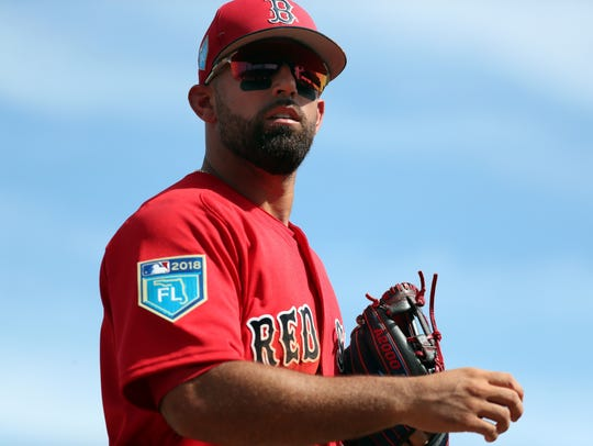 Deven Marrero at Red Sox spring training last month.
