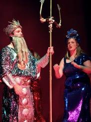 King Triton (Jared Vos Winkel) and daughter Aquata