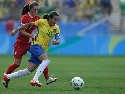 Canada wins women's soccer bronze with 2-1 win over Brazil