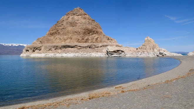 A file photo taken in 2011 of the Pyramid for which Pyramid Lake is named.