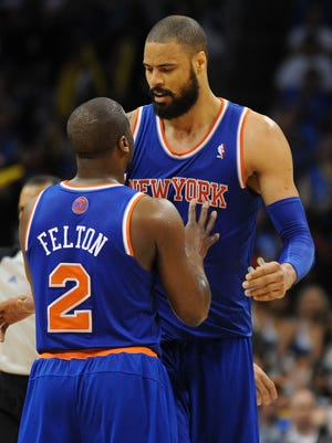 Raymond Felton, left, and Tyson Chandler could be going to the Mavericks.