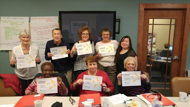 EmPoWER Somerset and Adult Day Center recently collaborated on program for caregivers. Program participants display some of their work.