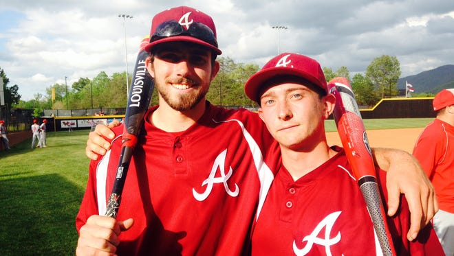 Asheville High's Langston Haden, left, and Jared Patterson.