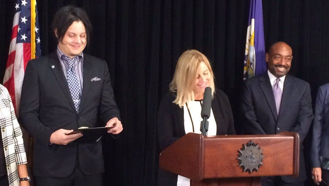 Rocker Jack White joins Megan Barry and will serve on a new gender equity council.