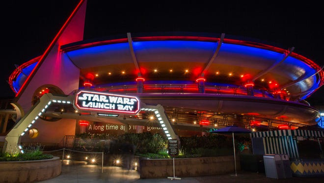 In the heart of Tomorrowland, Star Wars Launch Bay is the central locale for guests to celebrate all things Star Wars.